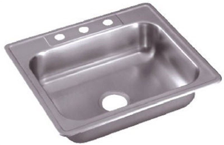 elkay sales inc sinks 25 x 22 x 6 inch stainless steel single compartment kitchen sink ne25224