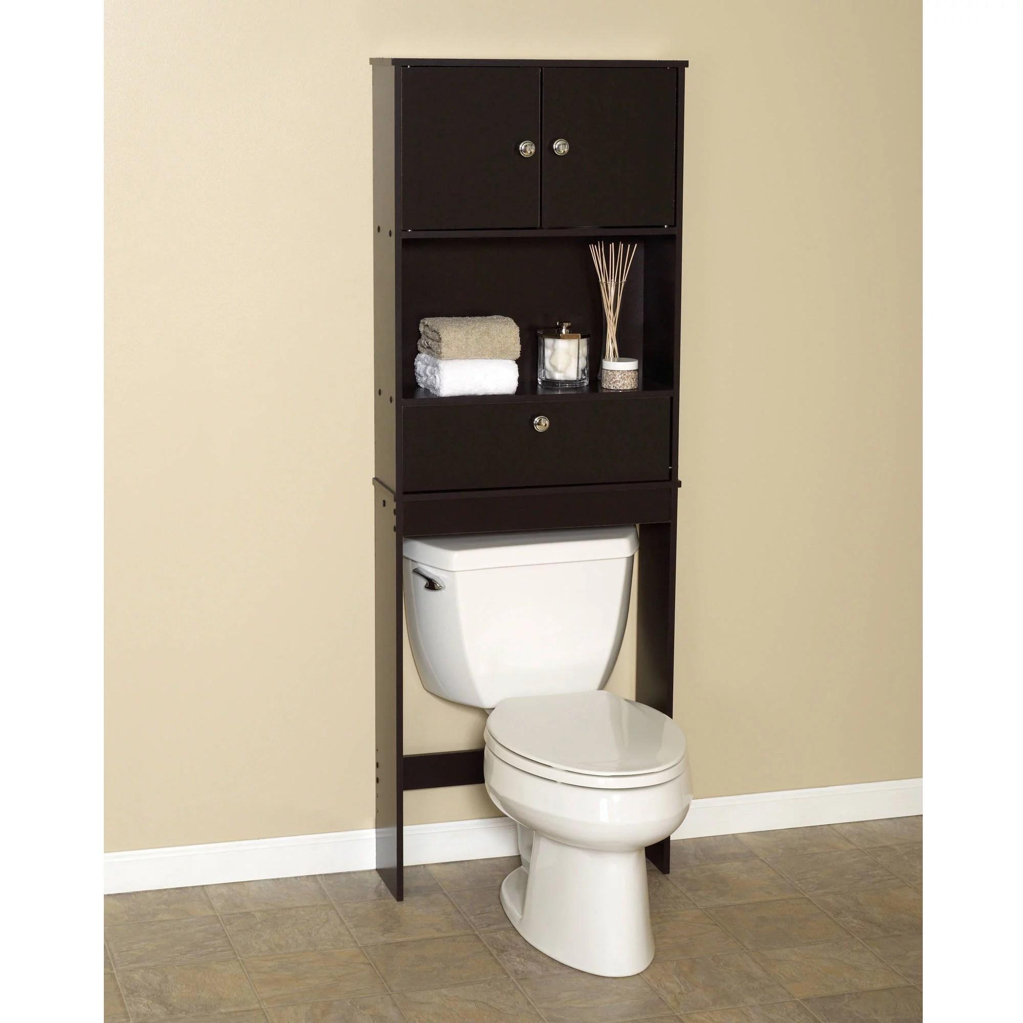 Over The Toilet Bath Storage Shelf Cabinet Space Saver Bathroom Organizer Brown 780414059374 Ebay