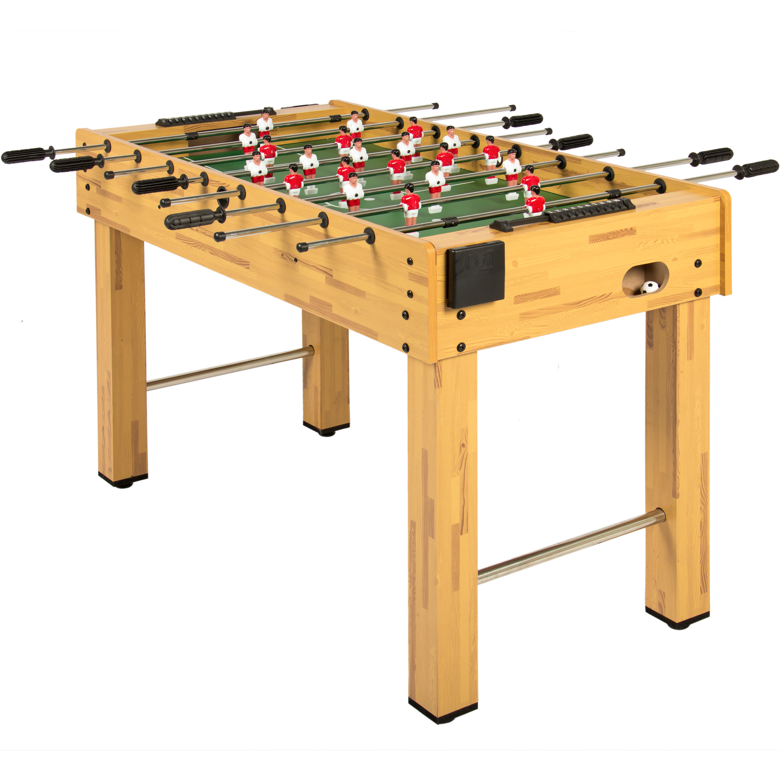 best choice products 48in competition sized soccer foosball table in brown with 2 balls 2 cup holders for home game room arcade