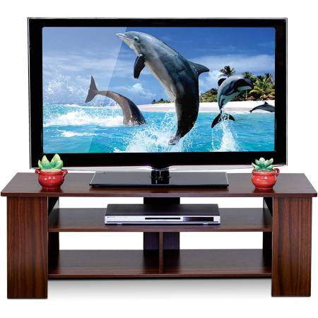 "Furinno FNAJ-11109 Boyate TV Entertainment Stand for TVs up to 42"", Walnut"