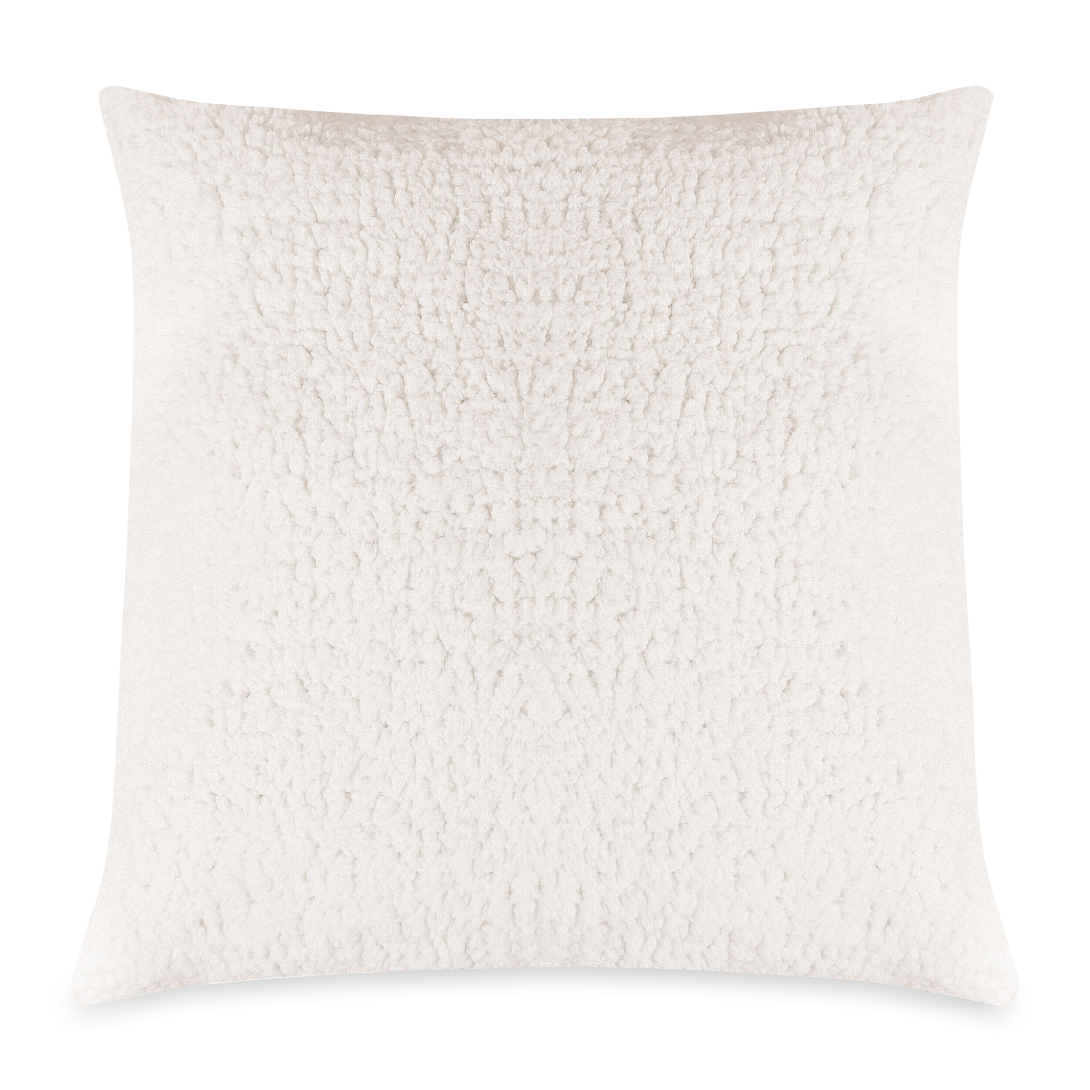 majestic home goods indoor cream sherpa large decorative throw pillow