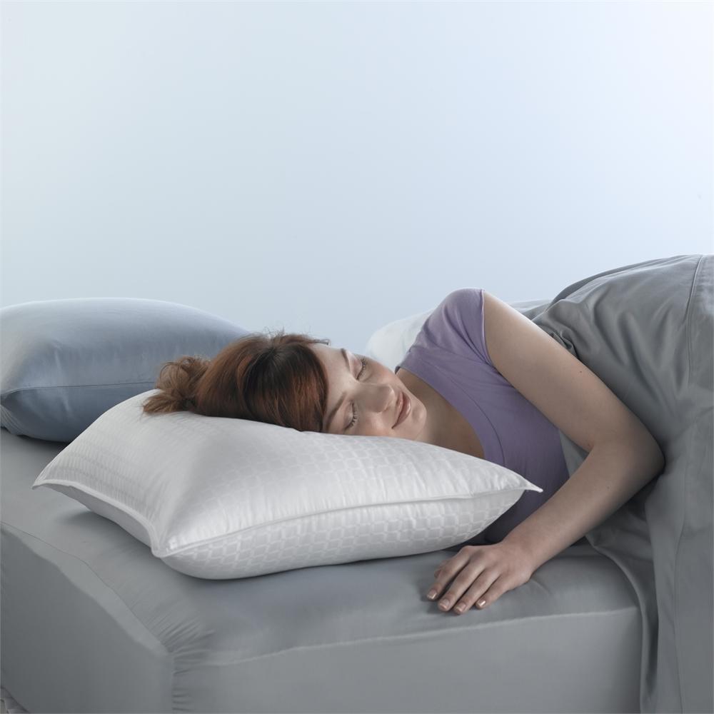 therapedic won t go flat standard queen side sleeper pillow
