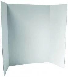elmer s tri fold corrugated display board 28 x 40 white