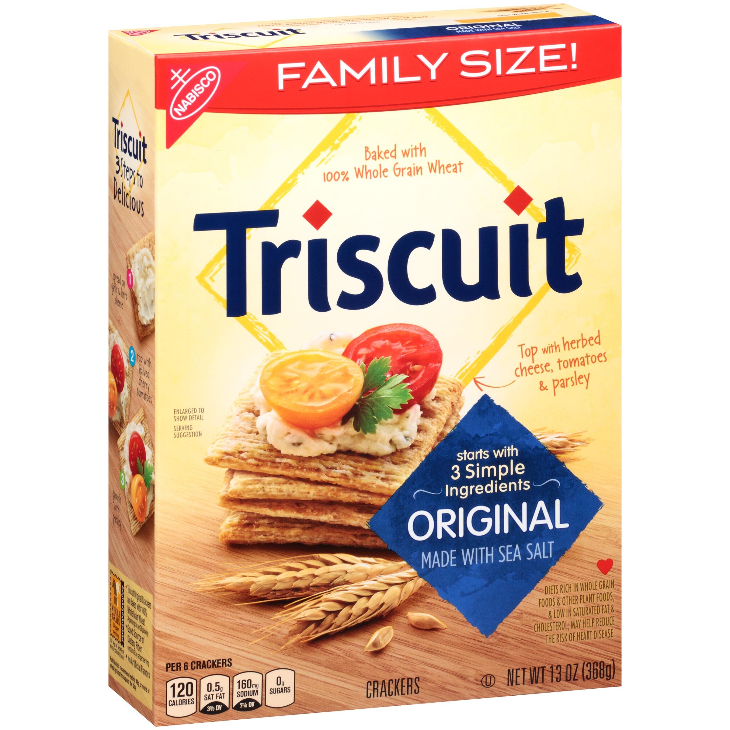 Nabisco Triscuit Crackers Original Family Size 130 OZ