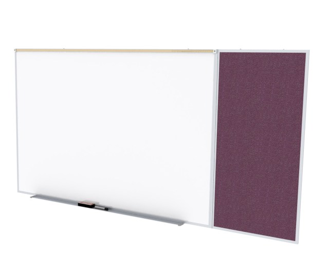 Spc48c V 187 Ghent Porcelain Magnetic Whiteboard Vinyl Bulletin Board Combo Board Style C 5h X 8w Berry Walmart Com