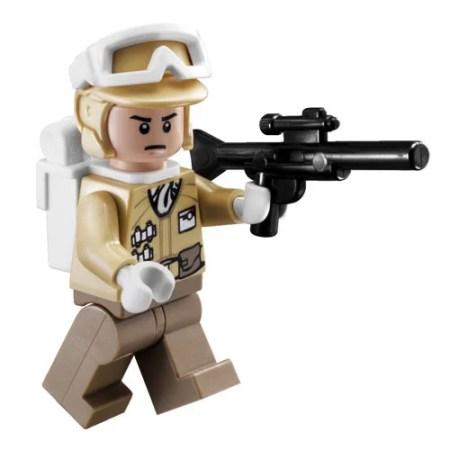 Lego Minifigure Star Wars Hoth Rebel Trooper With Blaster