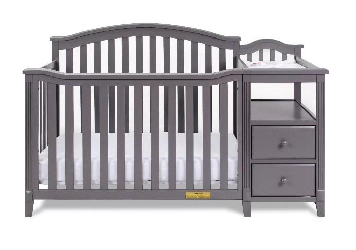 kali 4 in 1 convertible crib and changer gray walmart com