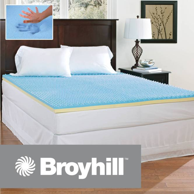 Broyhill Comfort Temp 2 Gel Memory Foam Mattress Topper Multiple Sizes