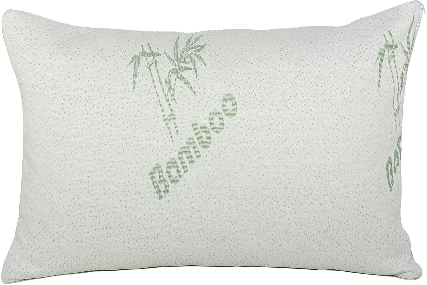 sapphire home shredded bamboo memory foam bed pillow hypoallergenic removable cover with zipper soft keep cool bamboo foam side back stomach