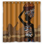 Eczjnt Illustration Beautiful Black African Woman Shower Curtain Bathroom Waterproof Home Decor 66x72 Inch Walmart Com Walmart Com