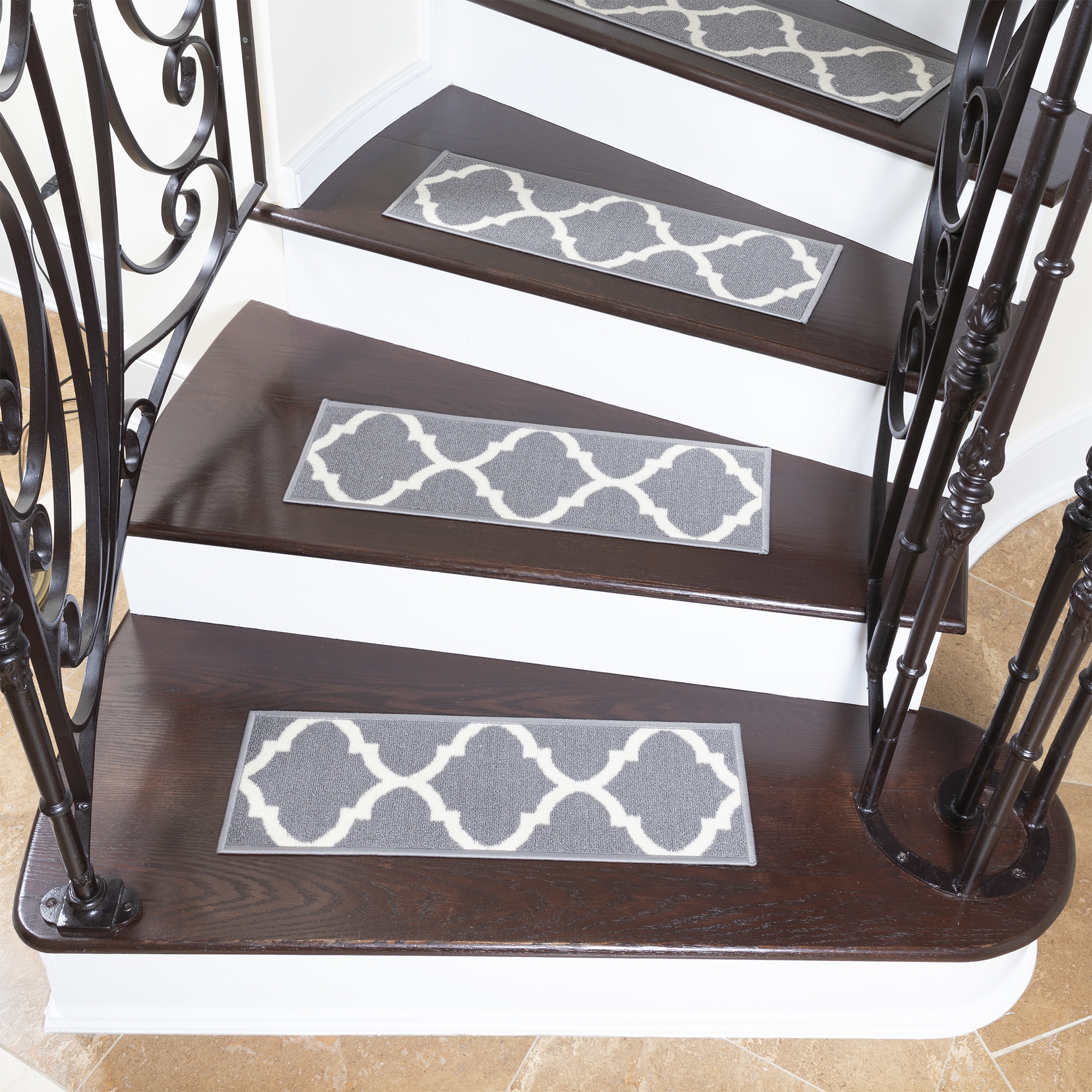 Ottomanson Softy Stair Treads Solid Skid Resistant Rubber Backing | Ottomanson Softy Stair Treads | Carpet Stair | Softy Carved | Amazon | Softy Collection | Non Slip Stair