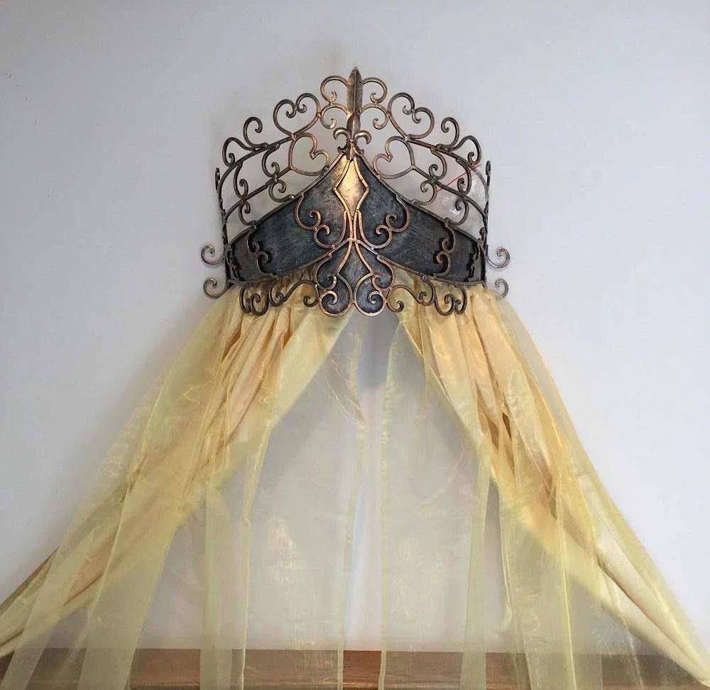 Octorose Metal Wall Teester Bed Canopy Drapery Bed Crown ... on Wall Teester Bed Crown  id=48460