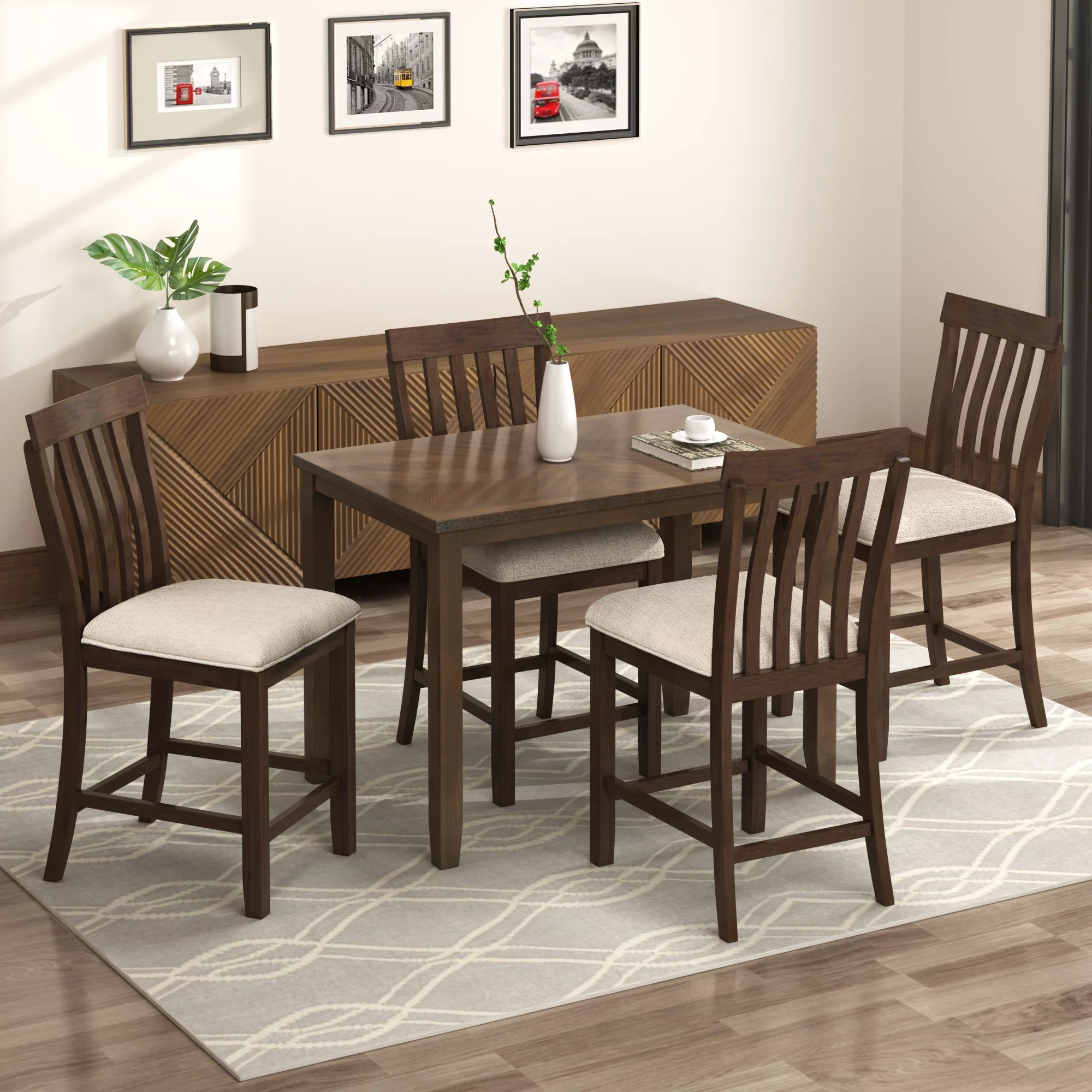 clearance kitchen dining table set 5 piece counter on dining room sets on clearance id=13806