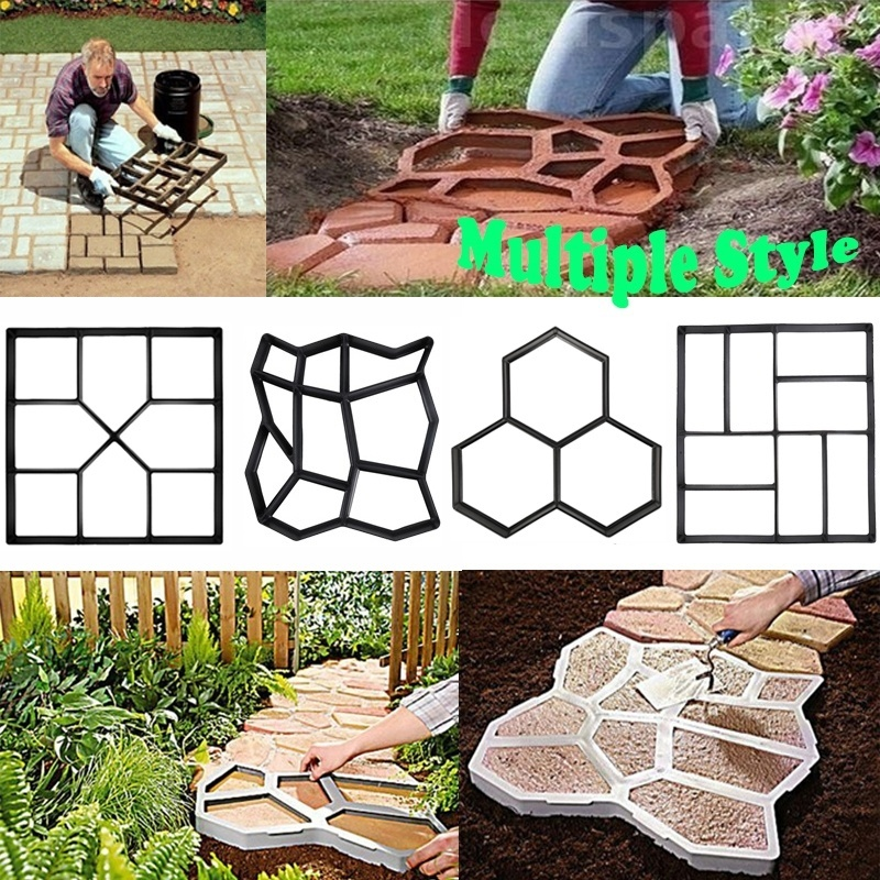 6 styles diy driveway paving concrete stepping garden road mold pavement mold patio stone path walk maker home garden decor