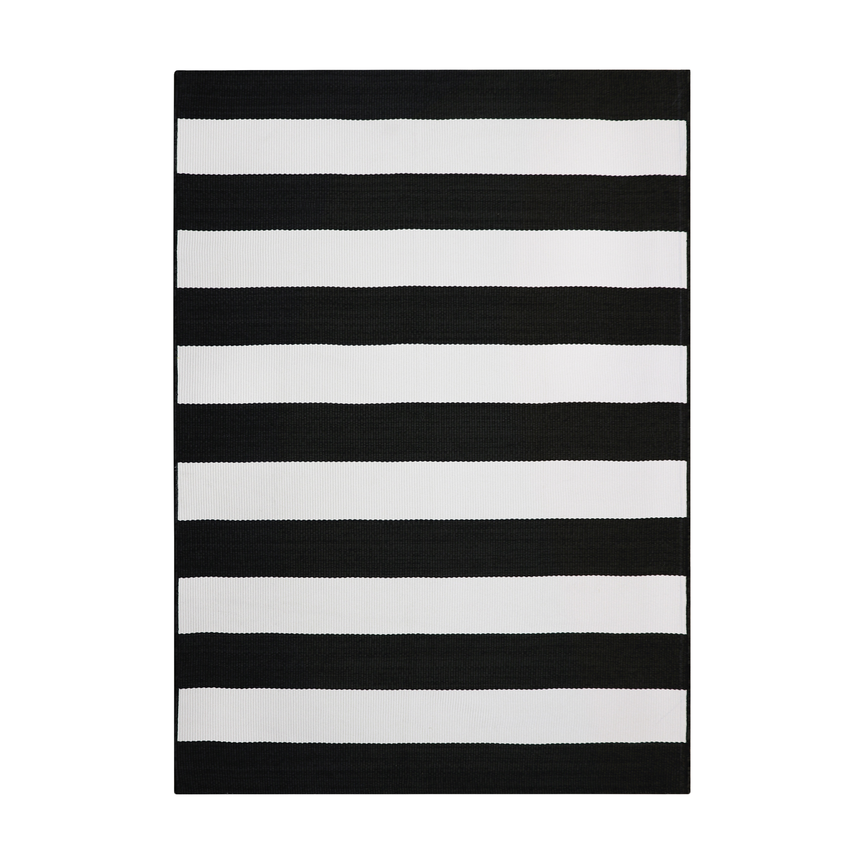 better homes gardens 7 x 10 black and white striped outdoor rug