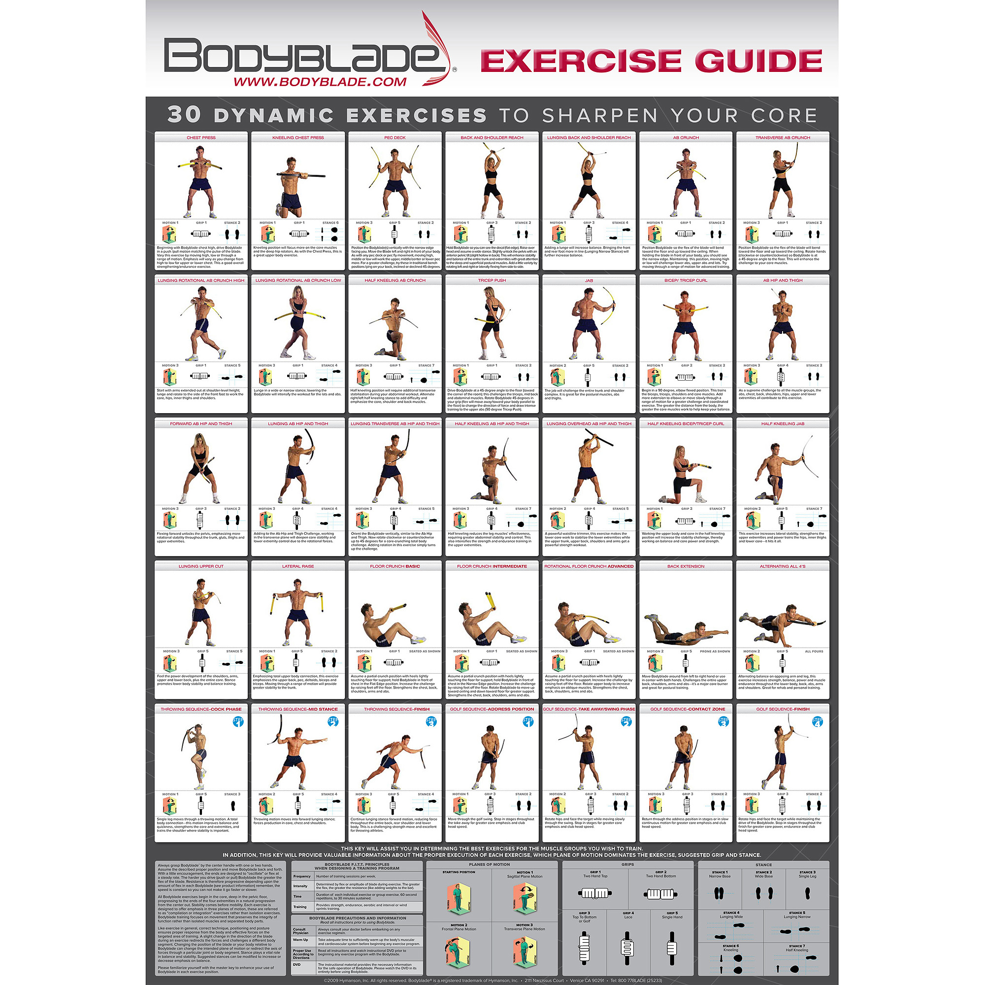 Isometric Exercises Chart: Bullworker Exercise Chart