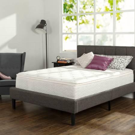 Slumber 1 12 Comfort Euro Box Top Spring Mattress Multiple Sizes