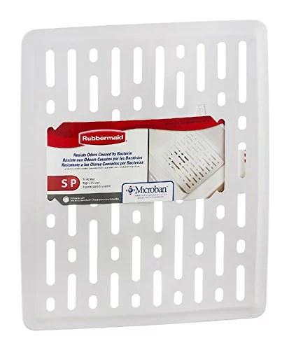 rubbermaid 1g1706wht enhanced microbal sink mat small white