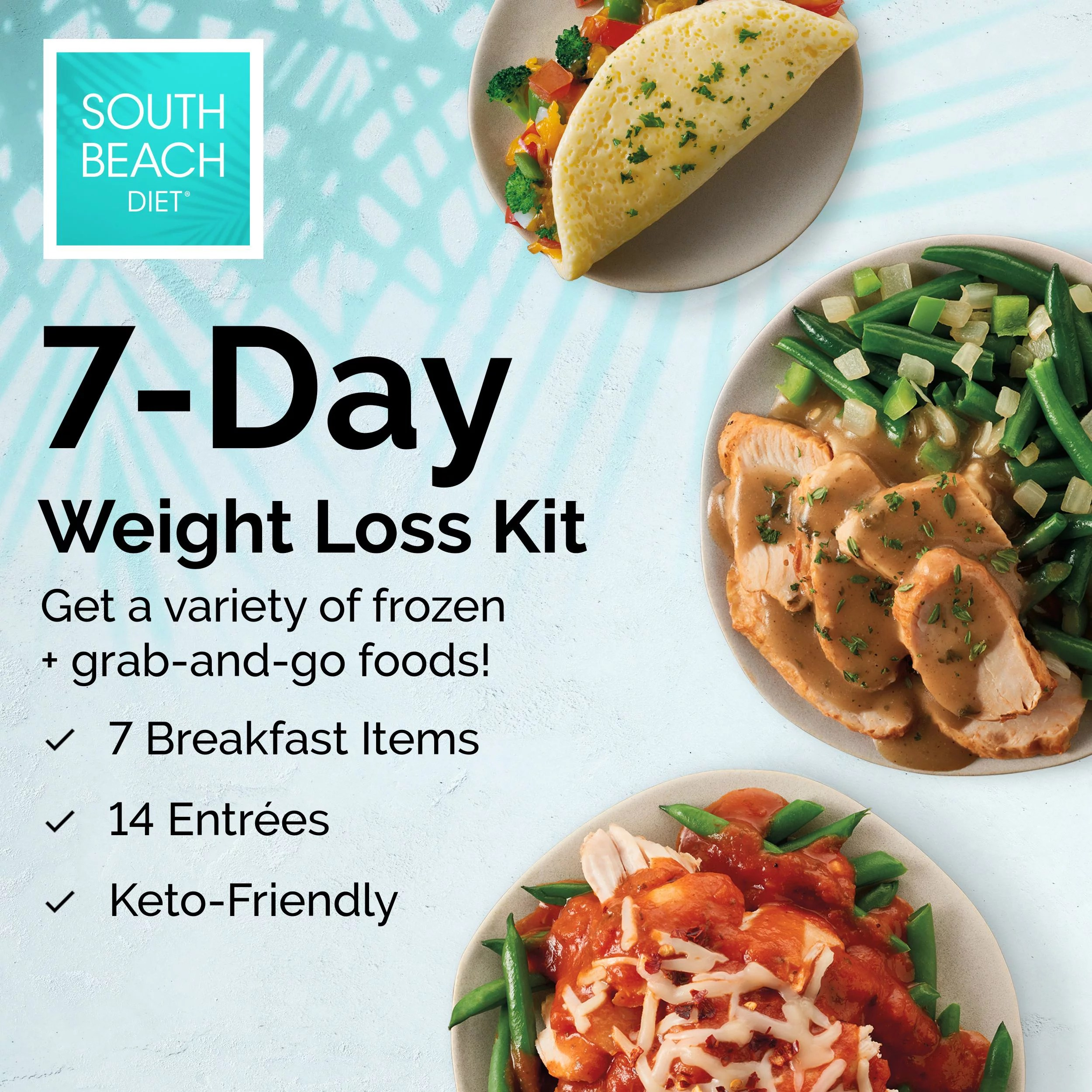 south beach diet phase 1 frozen ready to go 7 day weight loss kit 21 meals walmart com