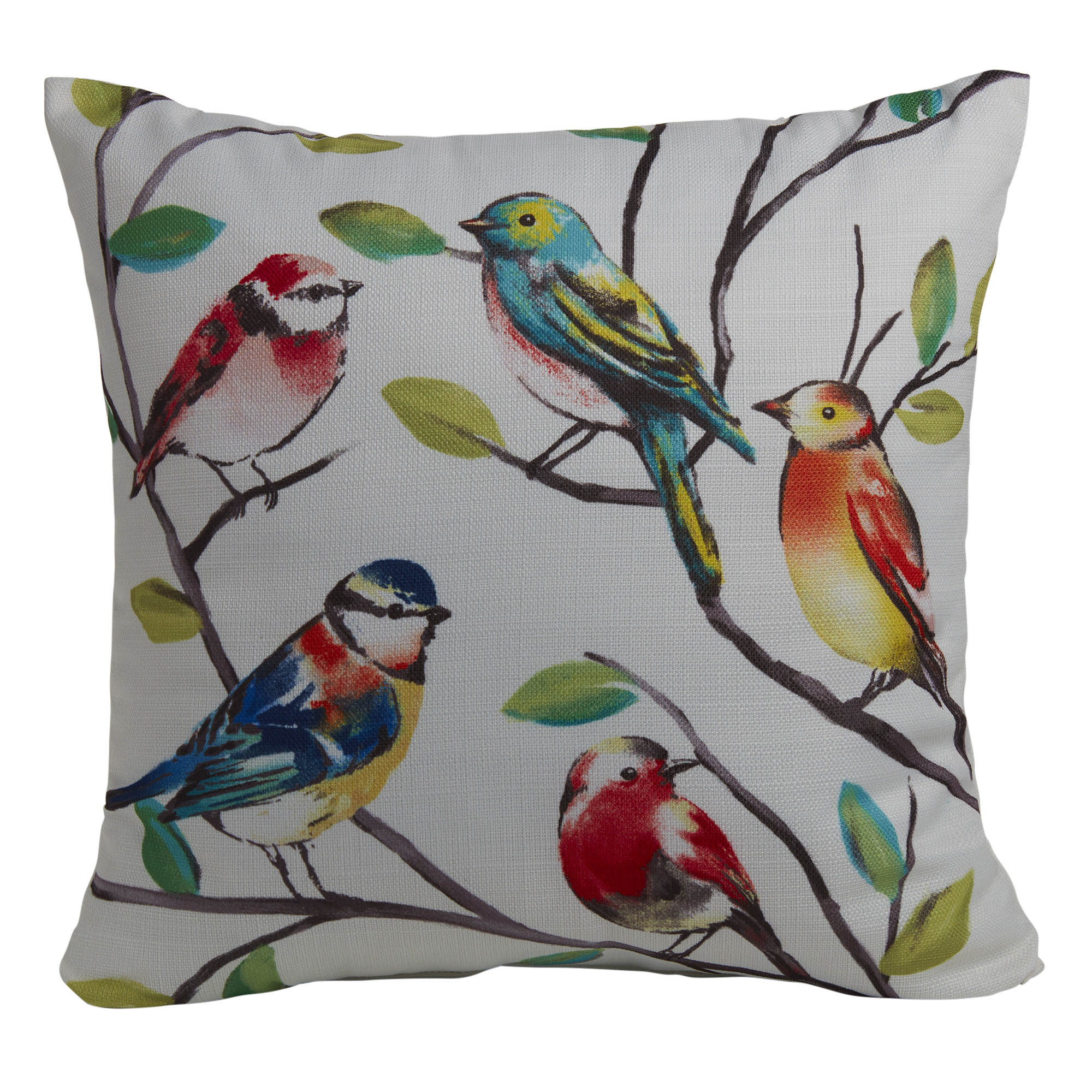 mainstays bird decorative throw pillow multicolored 18 x 18 walmart com