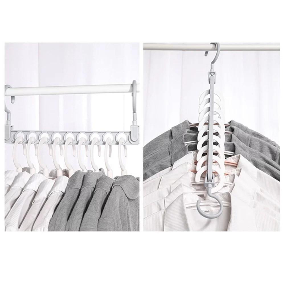Magic Hanger Multi-Functional Plastic Closet Space Saving ... on Closet Space Savers Walmart  id=95958