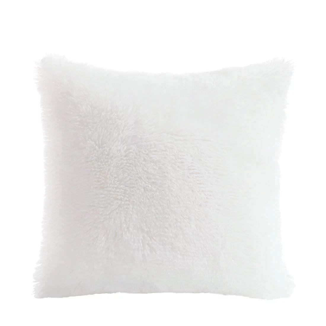 unique bargains throw pillow case faux fur fuzzy cushion cover home decorative walmart com walmart com