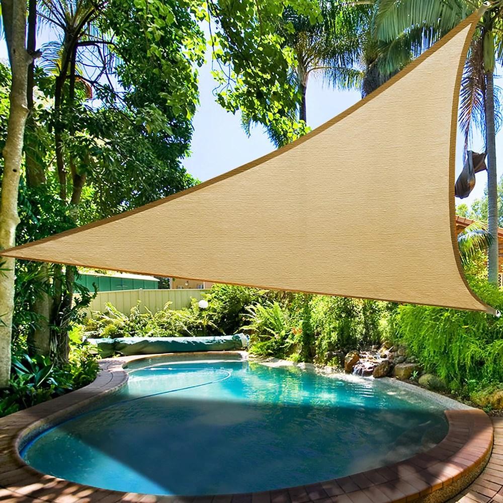 yescom 16 5 triangle patio canopy cover uv blocking sun shade sail