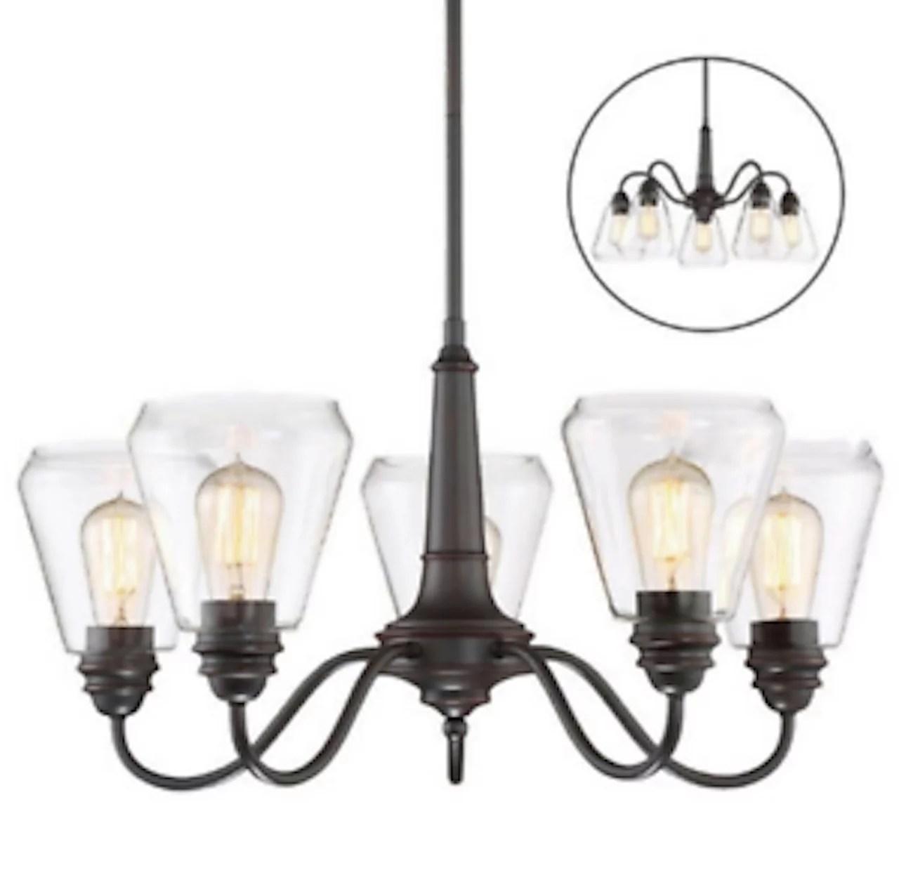 altair lighting led 5 arm chandelier