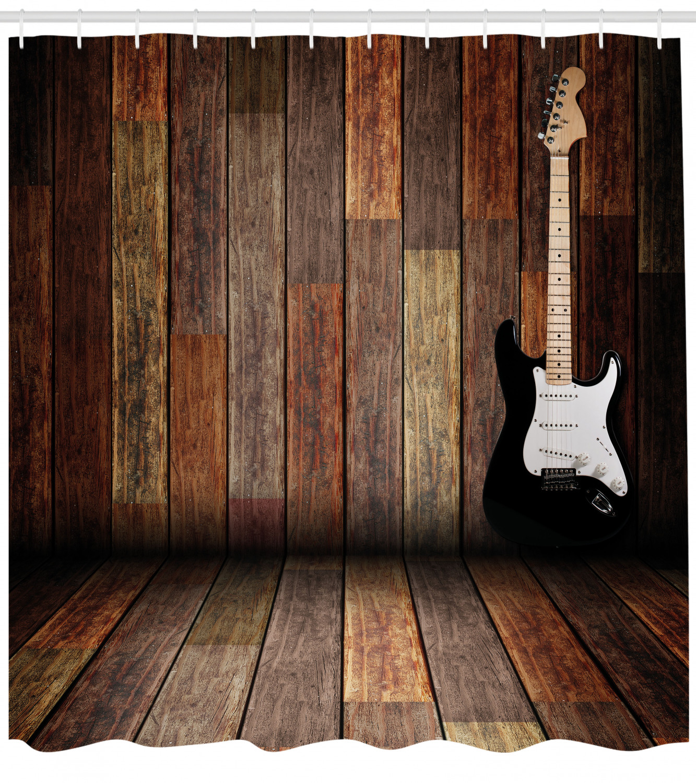 vintage music wooden ukulele shower