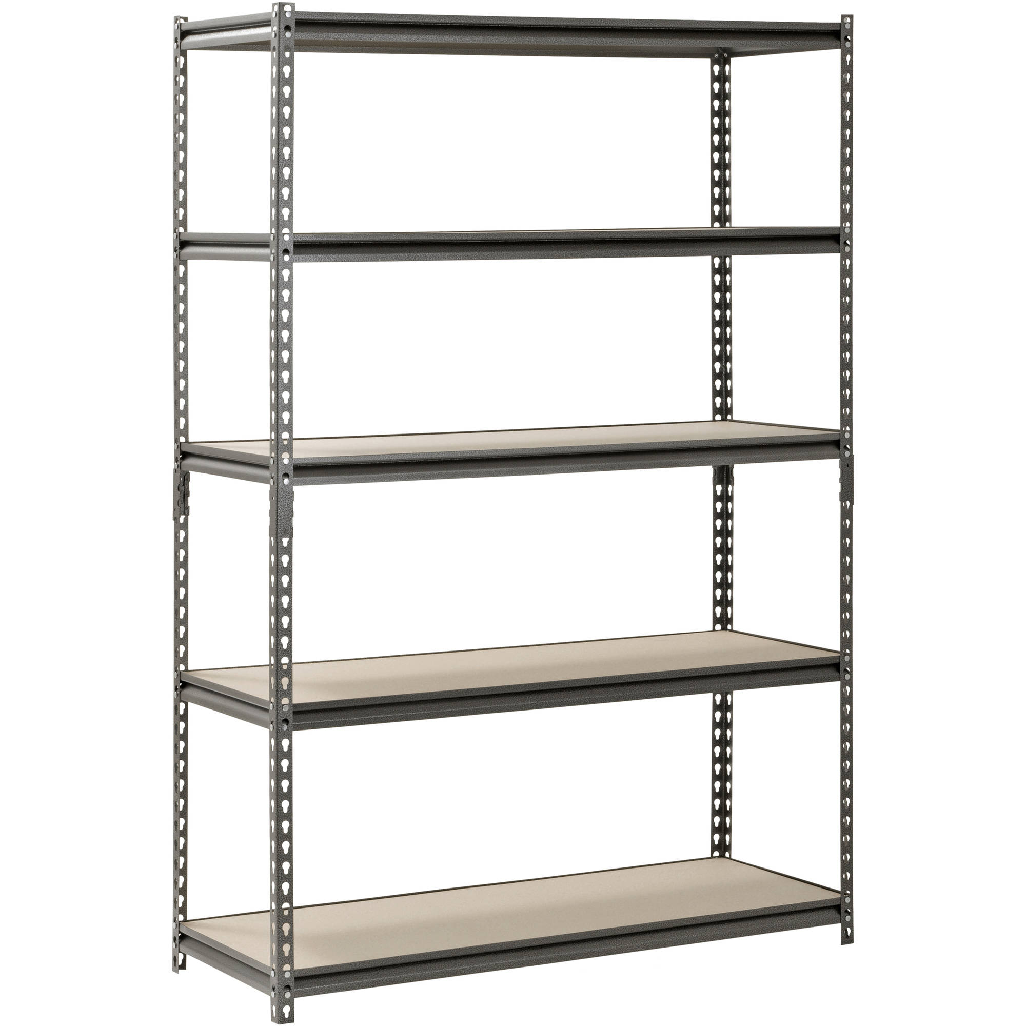 Muscle Rack 48″ W x 18″ D x 72″ H, 5-Shelf Steel Shelving, Silver-Vein