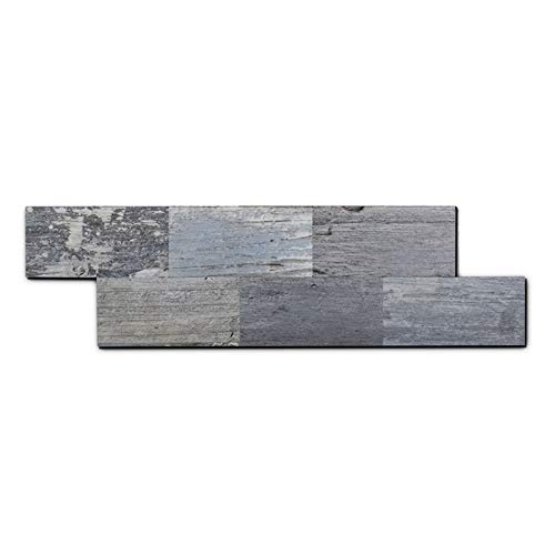 yipscazo peel and stick tile backsplash pvc light rustic backsplash wood tile for kitchen peel and stick 13 x 4 sample sheet walmart com