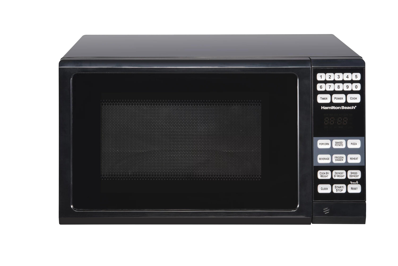 hamilton beach 0 7 cu ft black microwave oven