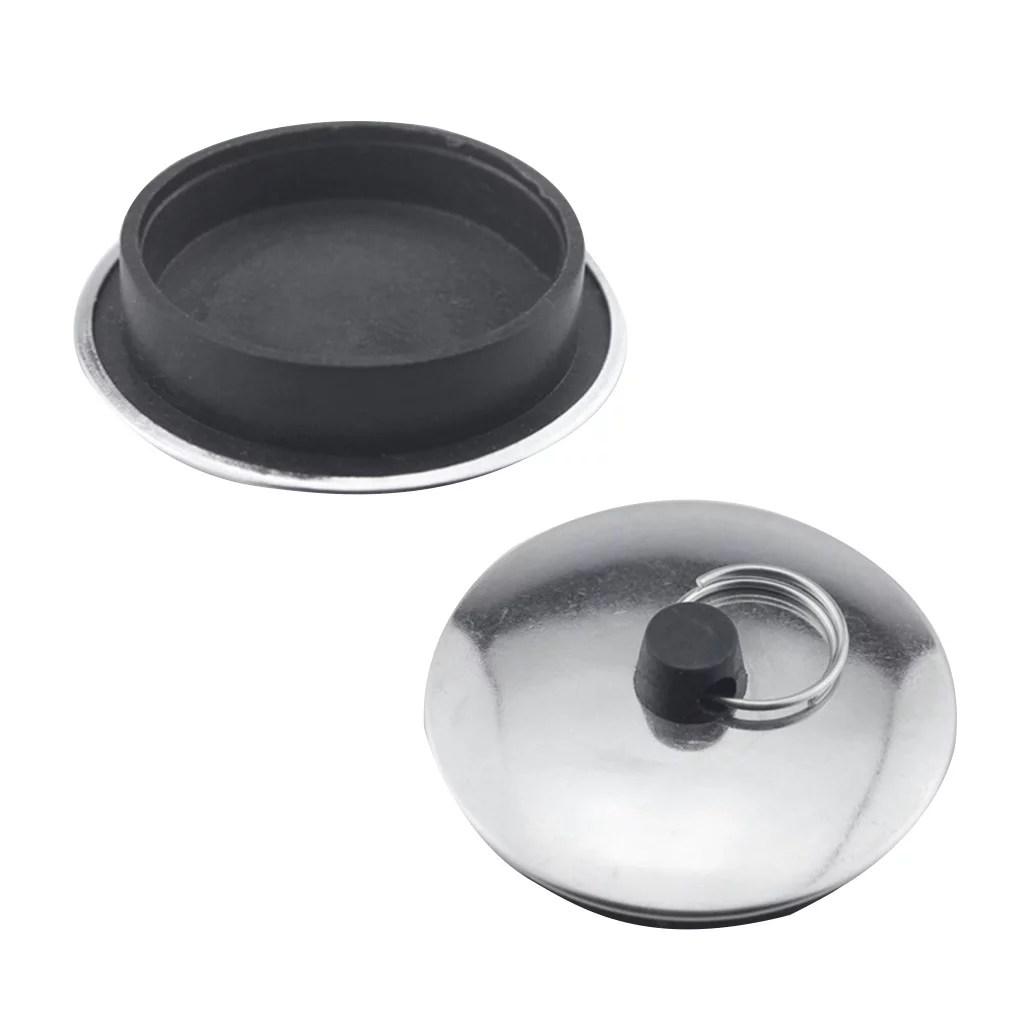 babydream1 kitchen sink drain stopper bathroom basin bathtub metal rubber non slip stopper with ring