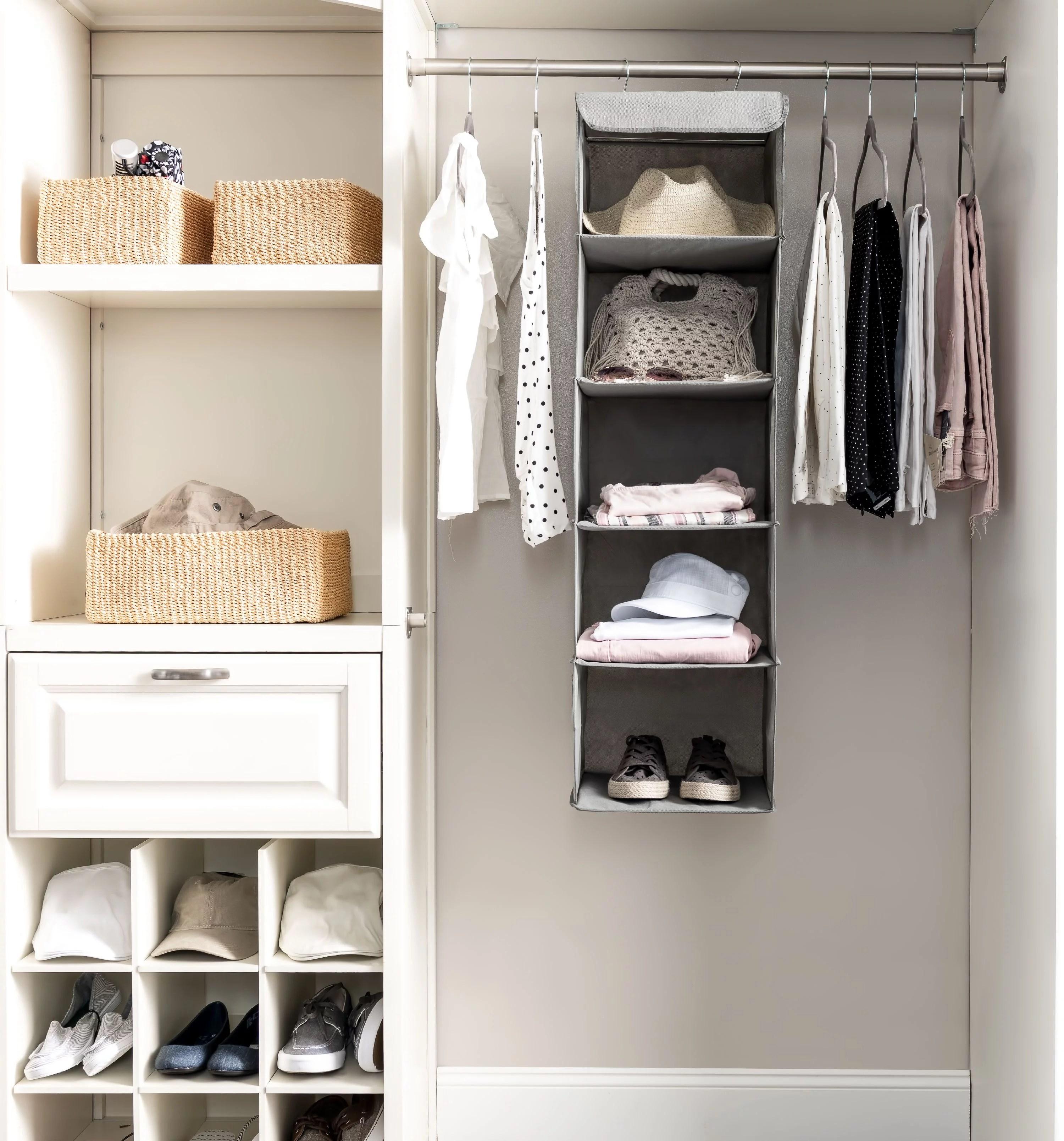 KosKano 5 Shelf Hanging Closet Organizer Space Saver ... on Closet Space Savers Walmart  id=39584