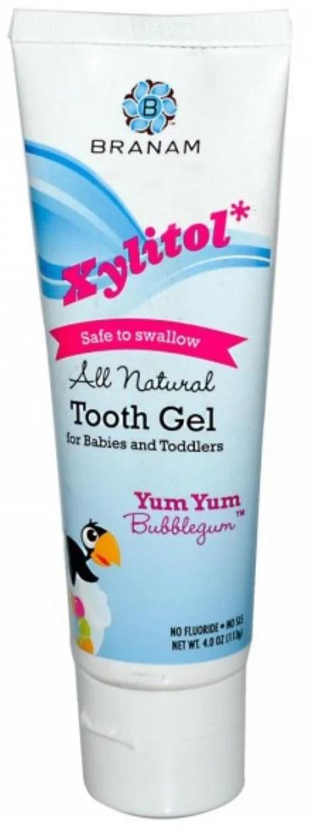 Branam Oral Health Xylitol Tooth Gel for Babies & Toddlers, Yum Yum Bubblegum, 4 oz