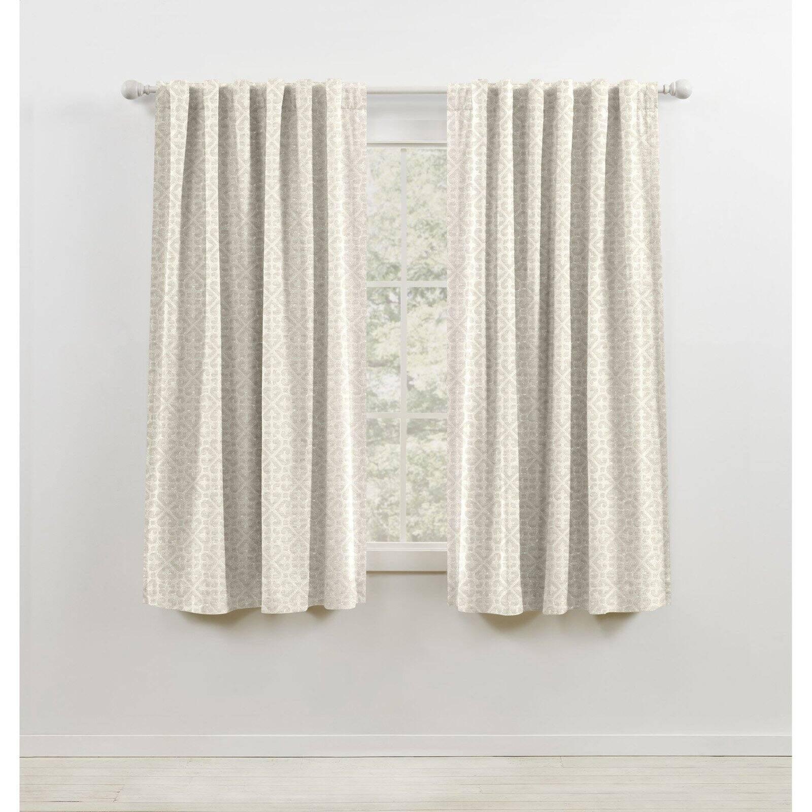 lauren ralph lauren terrain blackout soft pattern jacquard woven with lining rod pocket curtain panel walmart com