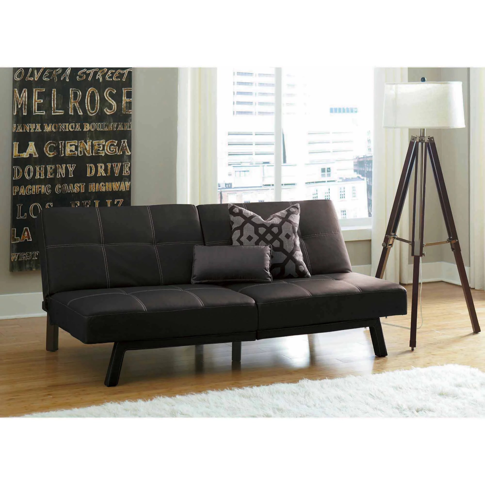 dhp delaney splitback futon sofa bed multiple colors