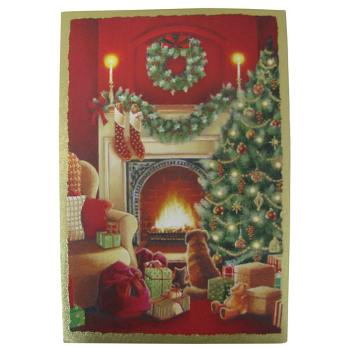 DaySpring 40ct Dog By Fireplace Christmas Cards
