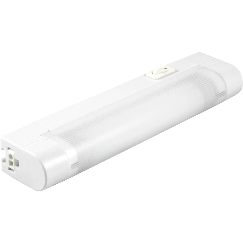 ge slimline 8in plug in fluorescent under cabinet light fixture linkable 10167