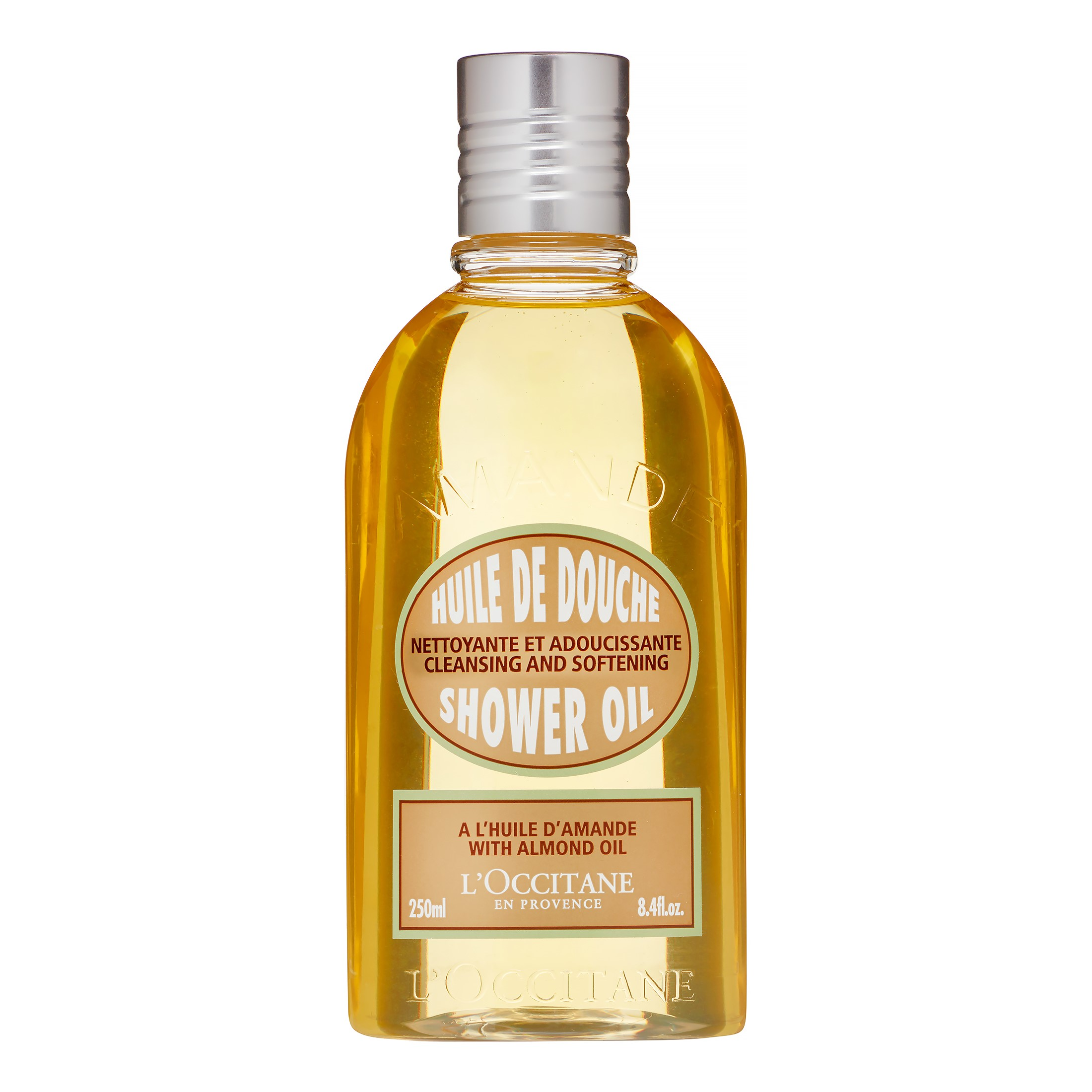 ( Value) L'Occitane Cleansing And Softening Shower Oil With Almond Oil, 8.4 Fl Oz
