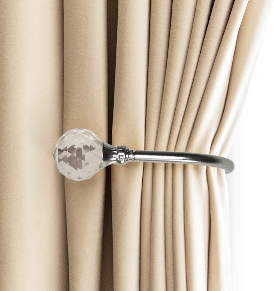 curtain holdbacks u shaped pearl hooks wall mounted curtain tie back drapery tiebacks hook pack of 2 silver