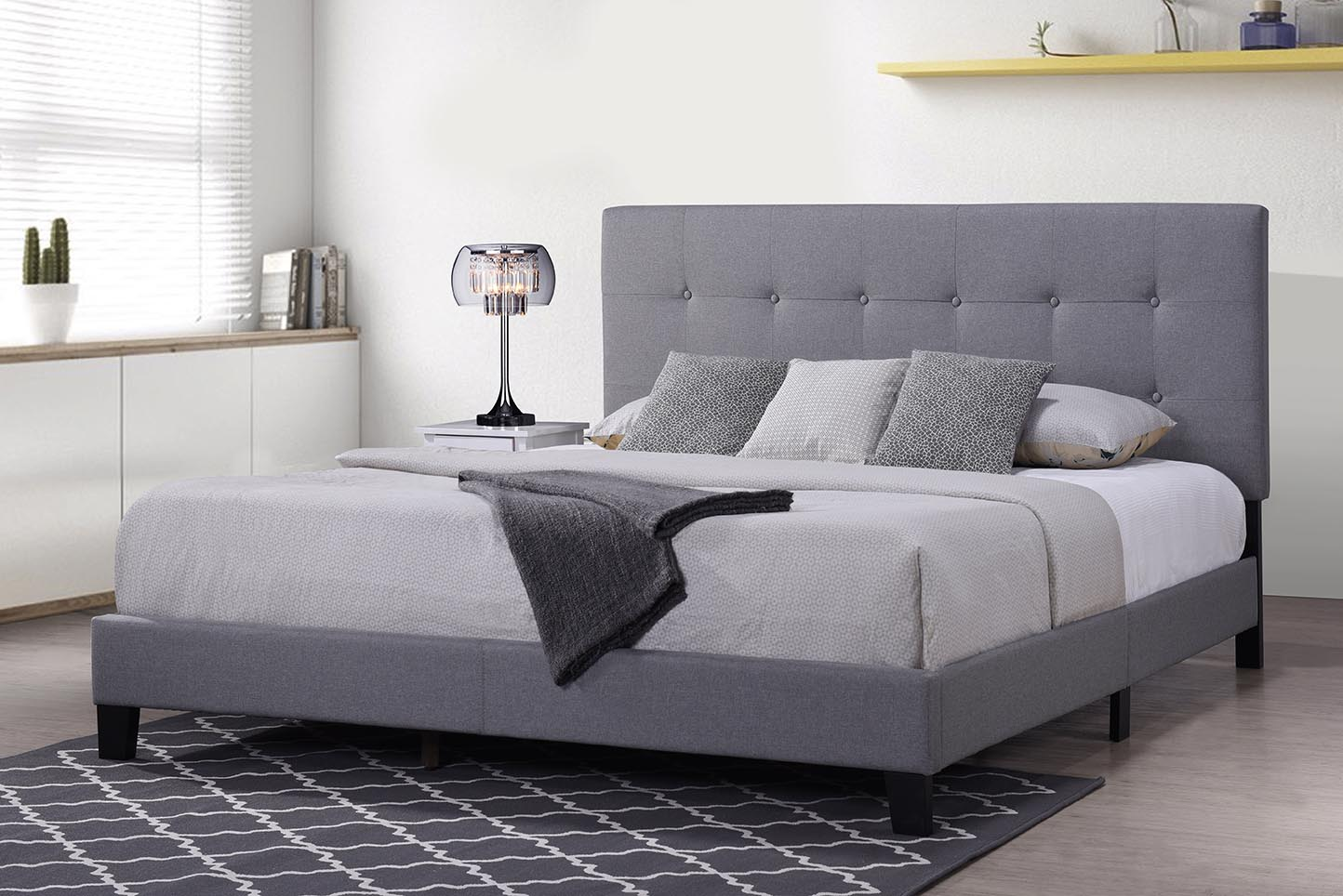 clearance upholstered platform bed frame heavy duty wood on walmart bedroom furniture clearance id=25679