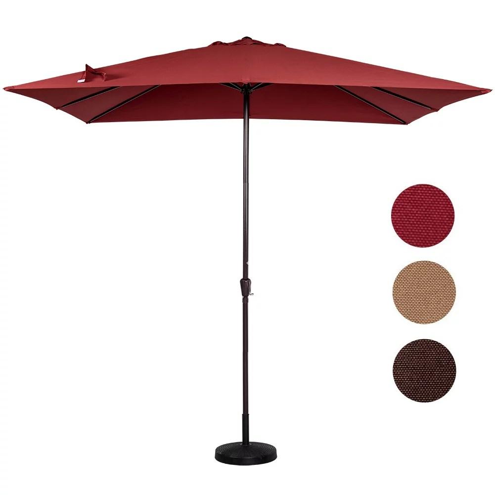sundale outdoor 8 11 ft rectangular patio garden outdoor umbrella with crank 220g polyester