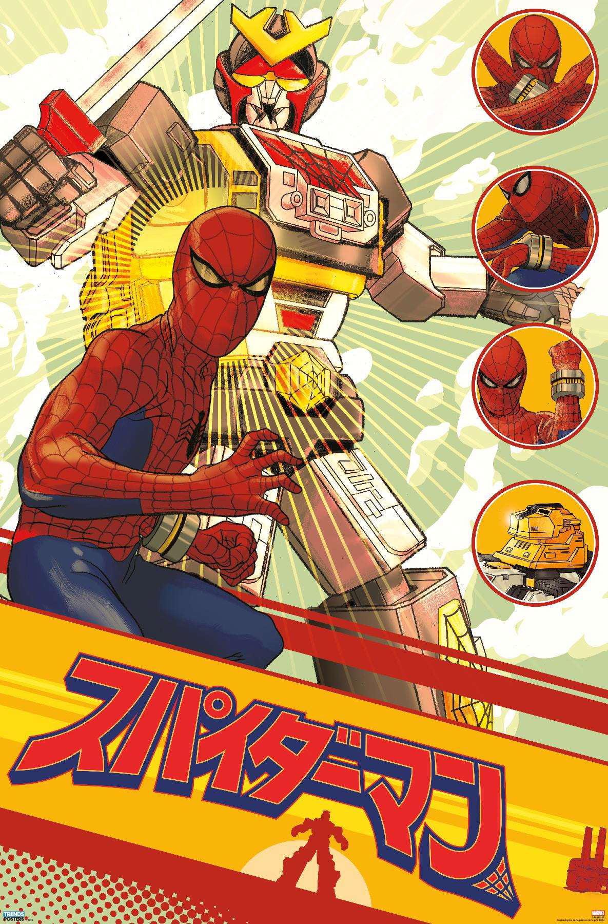 marvel television japanese spider man leopardon sword poster