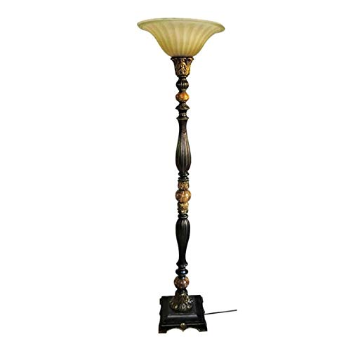 portfolio barada bronze with gold highlights torchiere indoor floor lamp with glass shade 72 in h walmart com