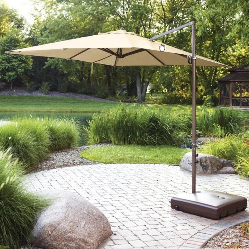 garden winds replacement canopy top for umb 499331 square offset umbrella walmart com