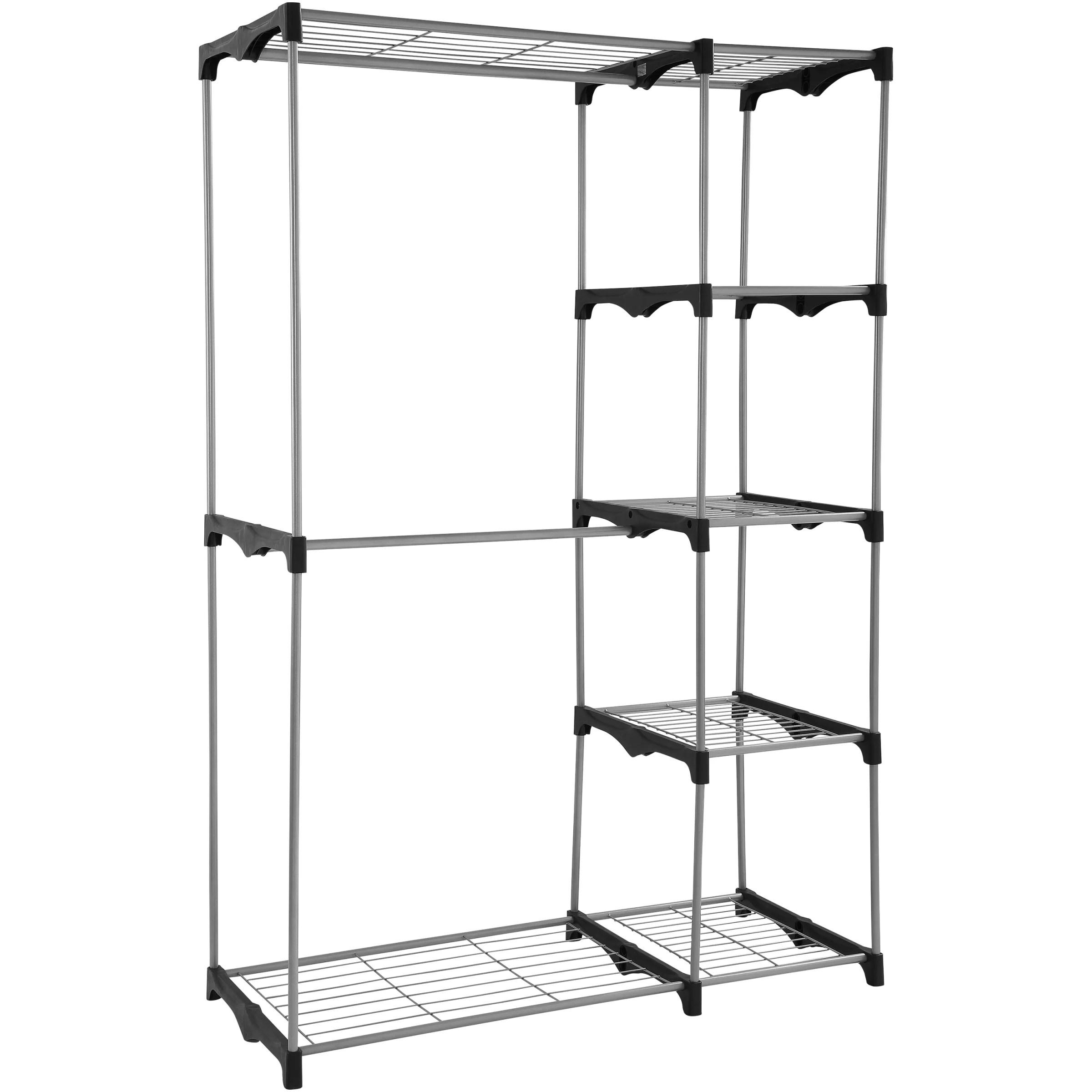 Mainstays Wire Shelf Closet Organizer 2 Tier Easy To