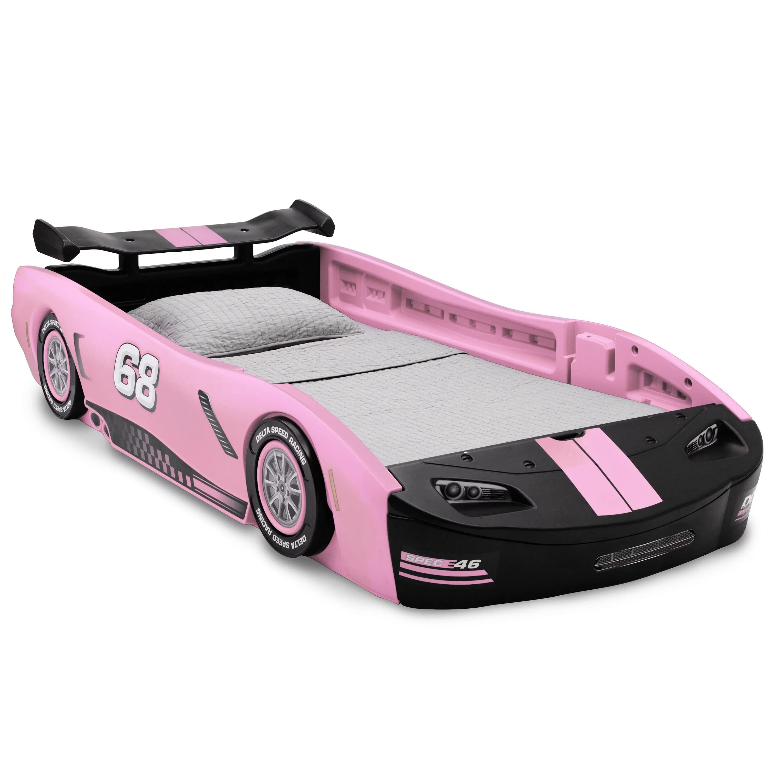 Delta Children Turbo Race Car Twin Bed Pink Walmart Com Walmart Com
