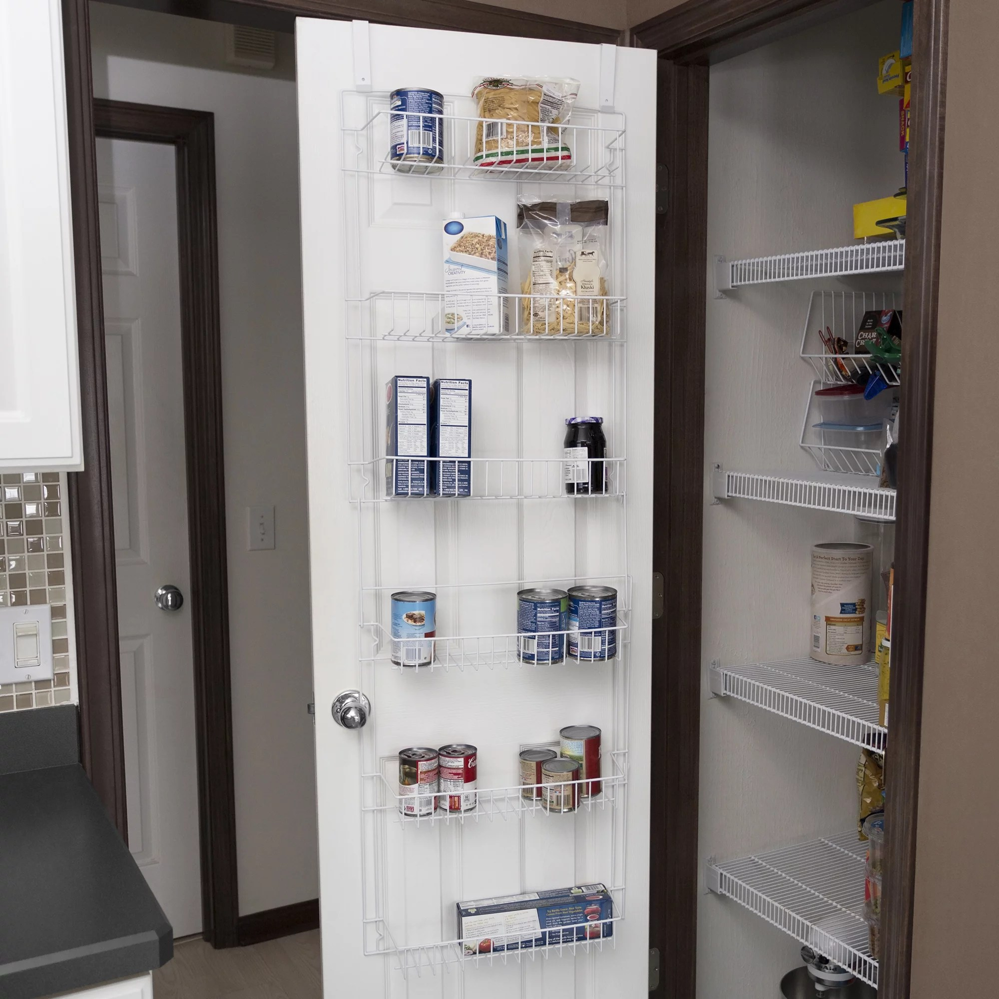 Closet Organizer W 6 Shelves Over The Door Pantry Organizer And Bathroom Organizer By Lavish Home Walmart Com Walmart Com