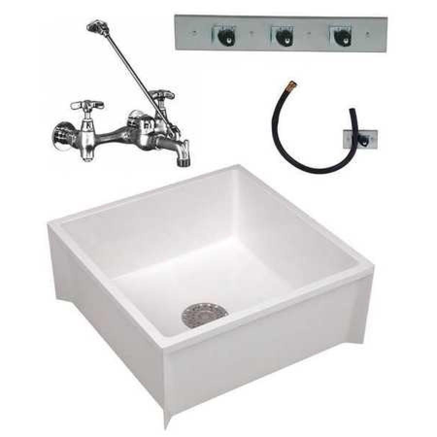 mustee 63cm 24 in w x 24 in l x 10 in h mop sink kit walmart com